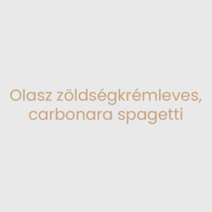 Olasz zöldségkrémleves, carbonara spagetti