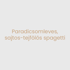 Paradicsomleves, sajtos-tejfölös spagetti