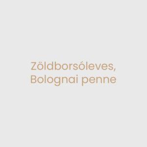 Zöldborsóleves, Bolognai penne